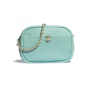 Chanel Light Blue Casual Trip Medium Camera Case Bag