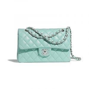 Chanel Light Blue Classic Flap Small Bag
