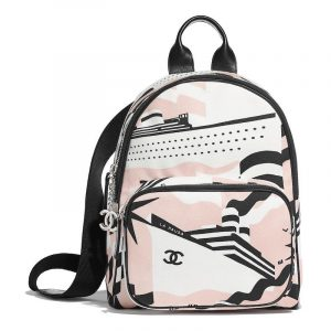 Chanel Nude/Black/White La Pausa Bay Backpack Bag