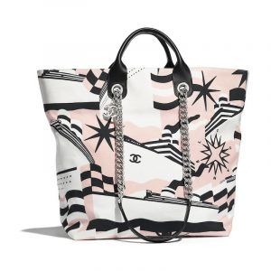 Chanel Nude/Black/White La Pausa Bay Small Shopping Bag