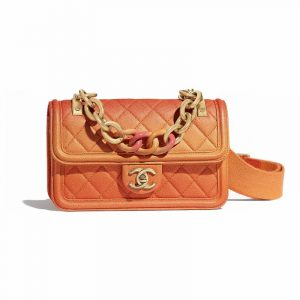 Chanel Orange Sunset On The Sea Small Flap Bag