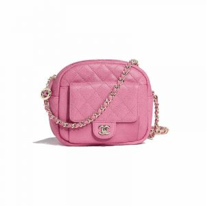 Chanel Pink CC Day Mini Camera Case Bag