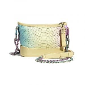 Chanel Purple/Yellow Python Gabrielle Small Hobo Bag