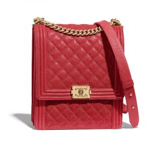 Chanel Red Boy North/South Maxi Flap Bag
