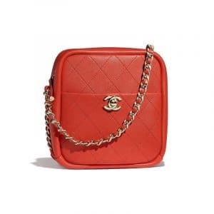 Chanel Red Casual Trip North:South Camera Case Bag