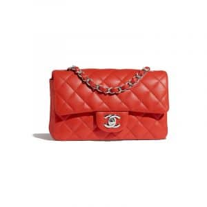 Chanel Red Classic Flap Mini Bag
