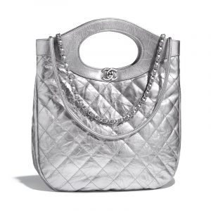 Chanel Silver Chanel 31 Small Shopping Bag