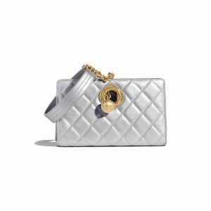 Chanel Silver Evening By The Sea Clutch Bag