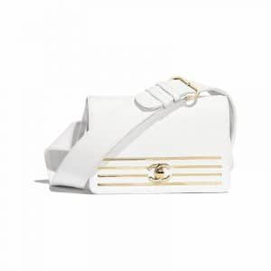 Chanel White Captain Gold Waist Bag