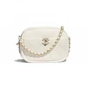 Chanel White Casual Trip Camera Case Bag