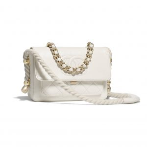 Chanel White En Vogue Flap Bag