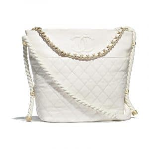 Chanel White En Vogue Hobo Bag
