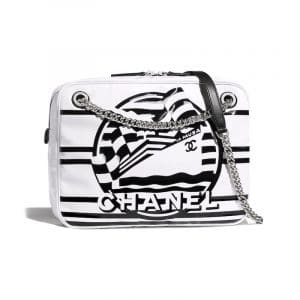Chanel White La Pausa Bay Small Camera Case Bag