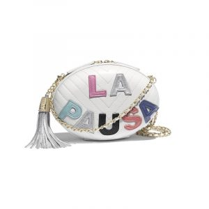 Chanel White/Multicolor La Pausa Evening Bag
