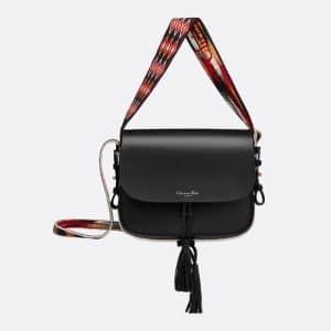 Dior Black Calfskin Diorodeo Flap Bag