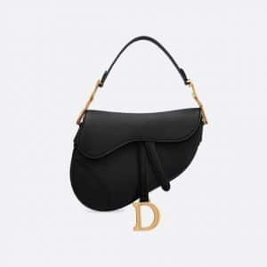 Dior Black Calfskin Saddle Bag