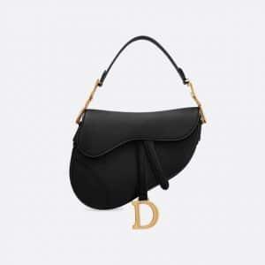 Dior Black Calfskin Saddle Bag