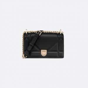 Dior Black Diorama Small Flap Bag