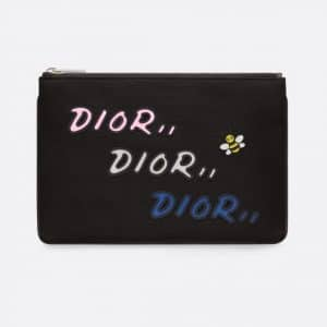 Dior Black Nylon Dior x Kaws Pouch Bag