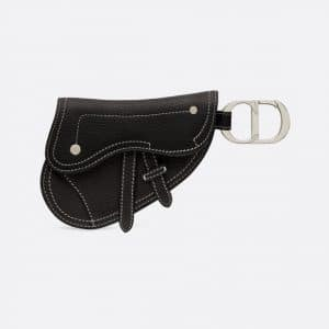Dior Black Saddle Key Ring