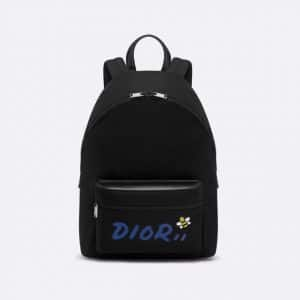 Dior Black/Blue Nylon Dior x Kaws Backpack Bag
