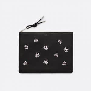Dior Black/Pink Bee Printed Dior x Kaws Pouch Bag