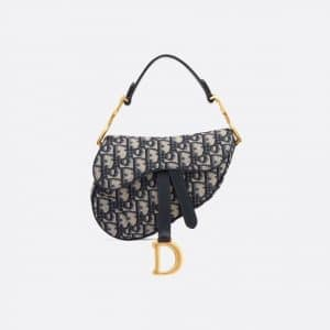 Dior Blue Oblique Mini Saddle Bag