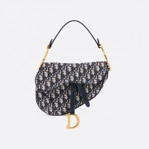 Dior Blue Oblique Saddle Bag