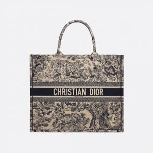 Dior Blue Toile de Jouy Book Tote Bag