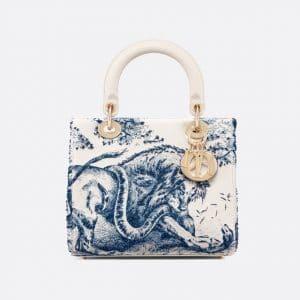 Dior Blue Toile de Jouy Lady Dior Bag