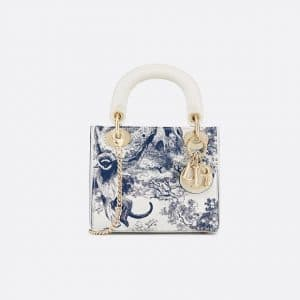 Dior Blue Toile de Jouy Mini Lady Dior Bag