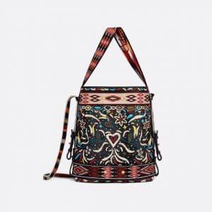 Dior Multicolor Floral Embroidered Diorodeo Hobo Bag