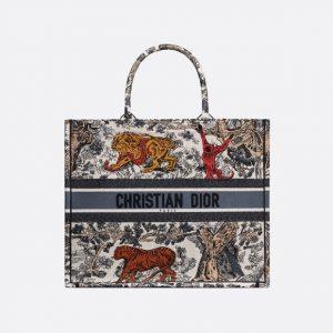Dior Multicolor Toile de Jouy Book Tote Bag