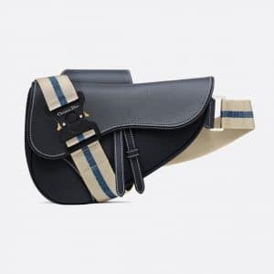 Dior Navy Blue Saddle Bag