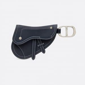 Dior Navy Blue Saddle Key Ring