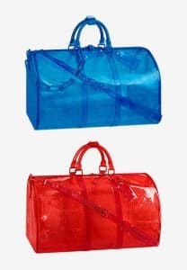 Louis Vuitton Blue and Red PVC Keepall Bags