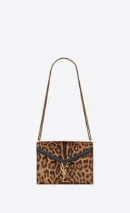Saint Laurent Leopard Print Ponyskin-Look Cassandra Bag