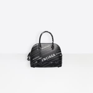 Balenciaga Noir/Blanc All Over Ville Top Handle S Bag
