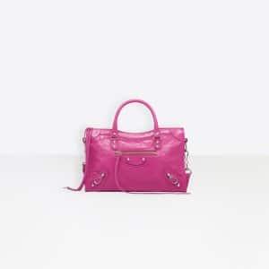 Balenciaga Pink Classic Silver City S Bag