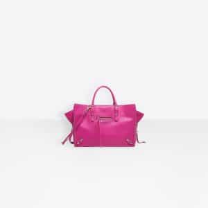 Balenciaga Rose Magenta Papier A6 Zip Around Bag