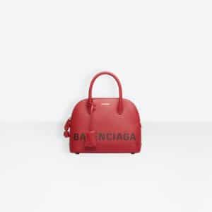 Balenciaga Rouge Coquelicot Ville Top Handle S Bag