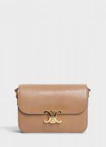 Celine Light Camel Lizard Medium Triomphe Bag