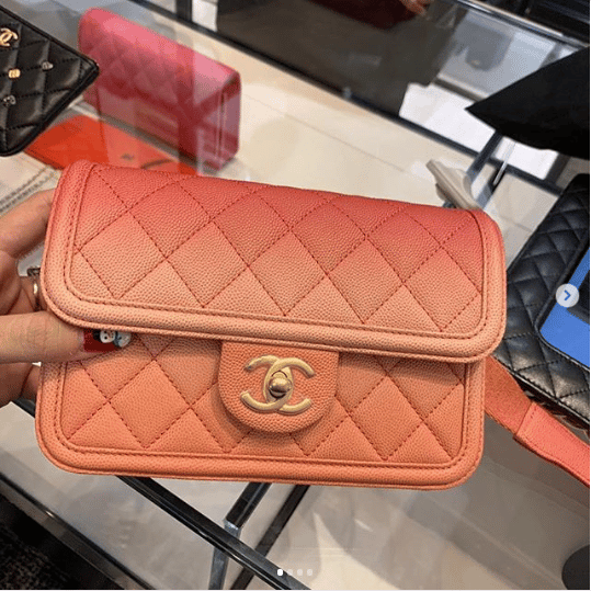 746a999e802a Chanel Coral Sunset On The Sea Waist Bag