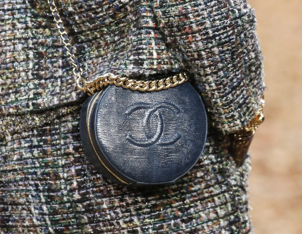 Chanel Lizard Round As Earth Evening Bag