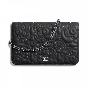 Chanel Studded Camellia Wallet On Chain Bag 1