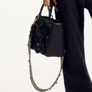 Dior Black Floral Appliques Lady Dior Bag - Pre-Fall 2019