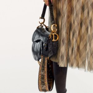 Dior Black Python Saddle Bag - Pre-Fall 2019