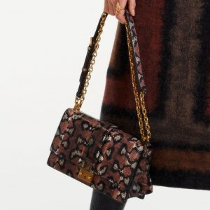Dior Brown Snakeskin Flap Bag - Pre-Fall 2019
