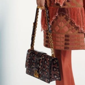 Dior Brown/Black Snakeskin Flap Bag 2 - Pre-Fall 2019