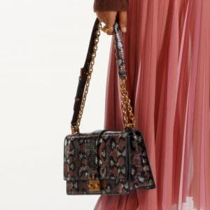 Dior Brown/Black Snakeskin Flap Bag - Pre-Fall 2019